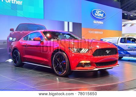 Nonthaburi - December 1: Ford Mustang 2.3L Ecoboost Car Display At Thailand International Motor Expo