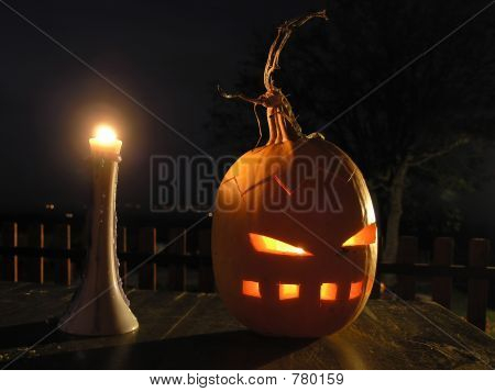 Decoration on a Halloween party