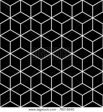Seamless geometric op art texture. Illustration.