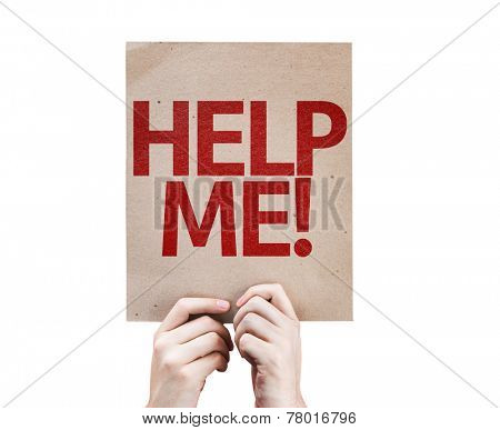Help Me! card isolated on white background