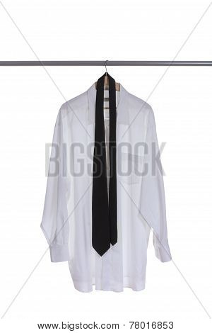 White Shirt With Tie