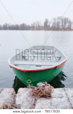 image of a pair-oar boat at a berth