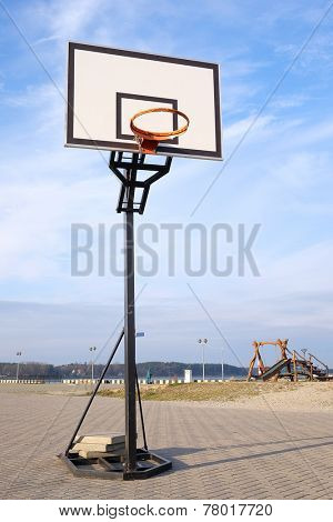 image of an  Urban basketball court