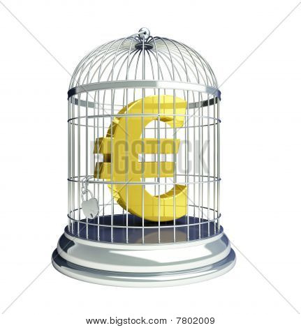 euro in a cage for birds