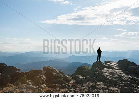 Silhouette on Mount Washington.