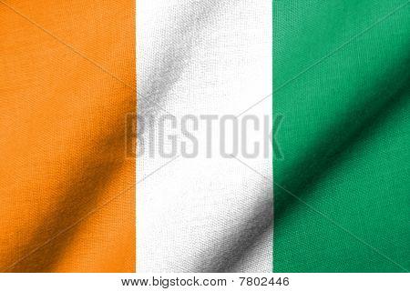 3D Flag Of Cote D'ivoire Waving