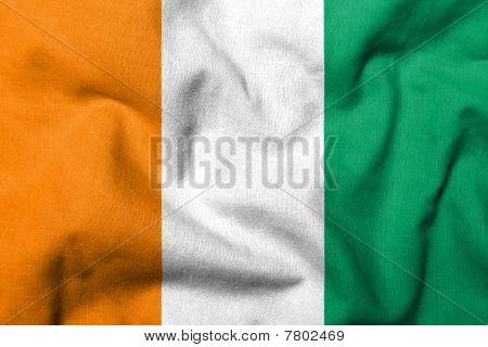 3D Flag Of Cote D'ivoire