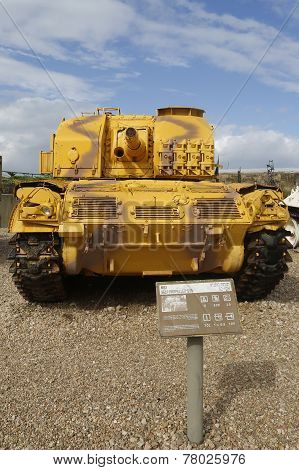 M52 self propelled gun captured by IDF during Six Day War from Jordanian army on display