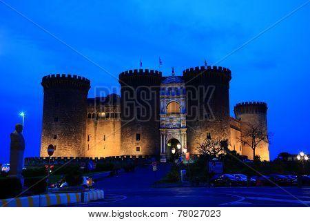 Castel Nuovo at dusk