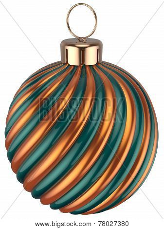 Christmas Ball Bauble New Years Eve Decoration Gold Green