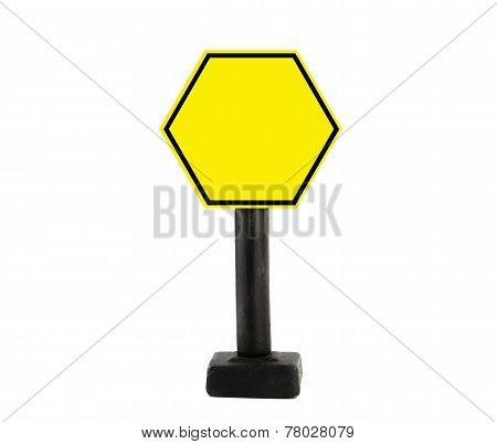 Yellow Traffic Sign.