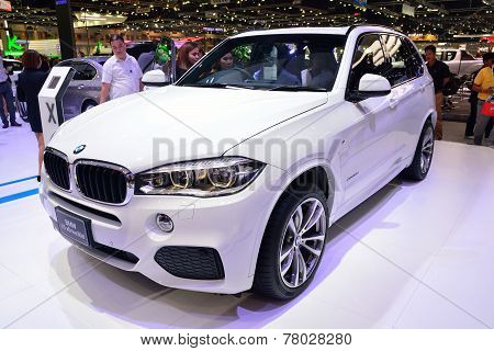 Nonthaburi - December 1: Bmw X5 Xdrive 30D Suv Car Display At Thailand International Motor Expo On D