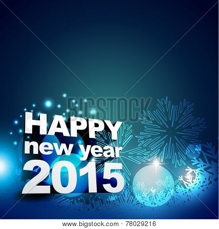 vector illustration of new year 2015