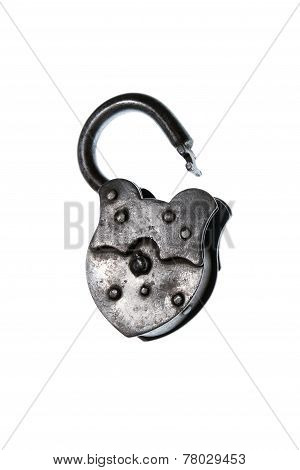 Lock Vintage Open Metal Isolated Freedom