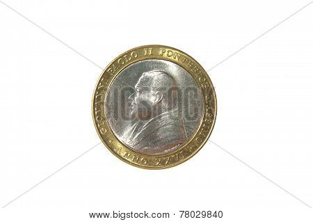 John Paul The Second 2 Pope Prifile Coin