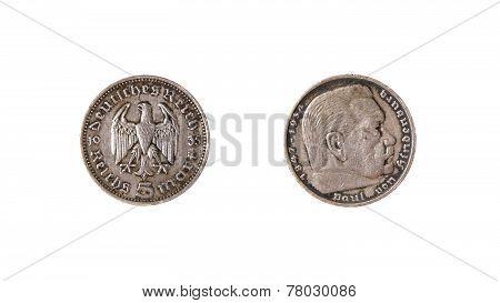 German Coin Reichs Mark