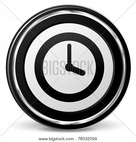 Time Black Icon