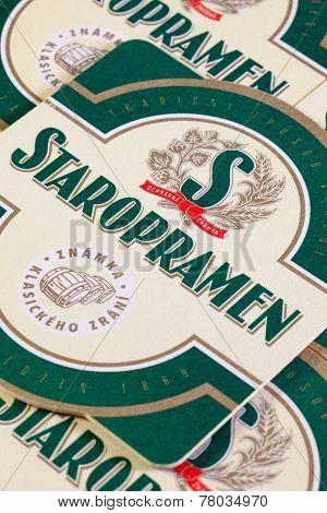 Beermats From Staropramen Beer