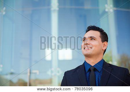 Aspiring Businessman Looking Up
