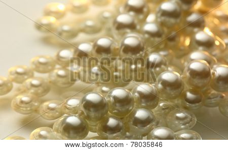 White Pearl In Water