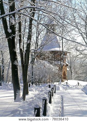 Winter in Kolomenskoye park