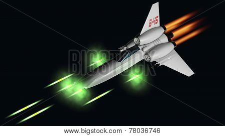 Starfighter Shooting His Four Guns