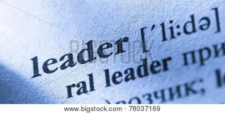 Word Leader Translation And Definition