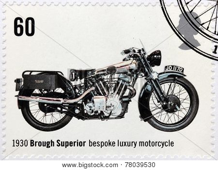 Luxury Motorcycle Stamp