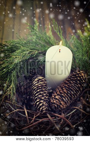 Decorative Christmas Composition