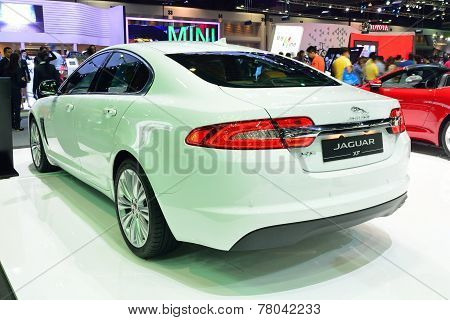 Nonthaburi - December 1: Jaguar Xf Car Display At Thailand International Motor Expo On December 1, 2