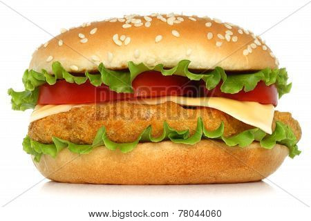 Big chicken hamburger