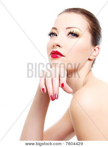 Porträt von Frau glamour