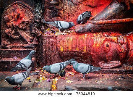 Bhairab Statue In Nepal