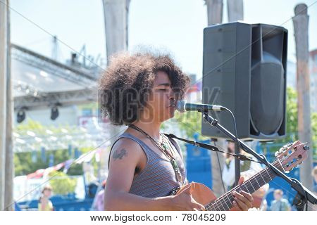 Perm, Russia - Jun 11, 2013: African Singing On Festival White Nights In Perm