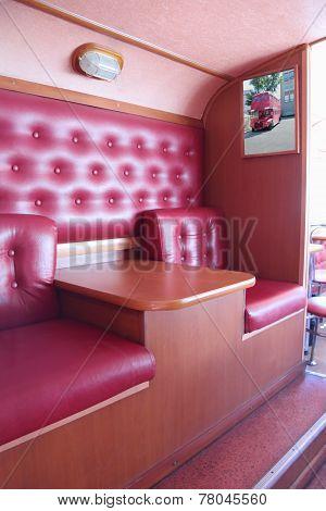 Perm, Russia - Jun 11, 2013: Interior Of Bus Cafe Kentucky Fried Chicken. First Restaurant Kfc Was O