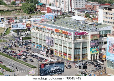 Perm, Russia - June 25, 2014: Modern Shopping Complex Iceberg. More Than 60 Stores In Iceberg Are Co