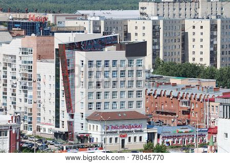 Perm, Russia - June 25, 2014: Modern Buildings In City. City Was Founded In 1723