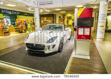 Advertising From A Car Rental Company For A Jaguar F Type Ca