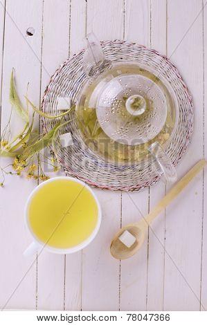 Fresh  Herbal Tea With Linden