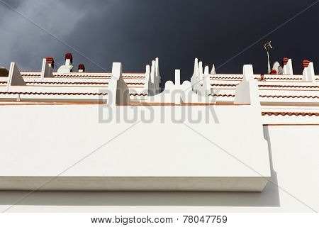 Architectural detail in Playa de las Americas on Tenerife, Spain, Europe