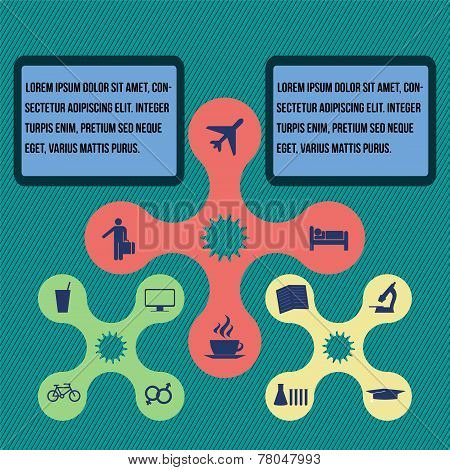 Elements Of Infographics, Modern Design Circle Template