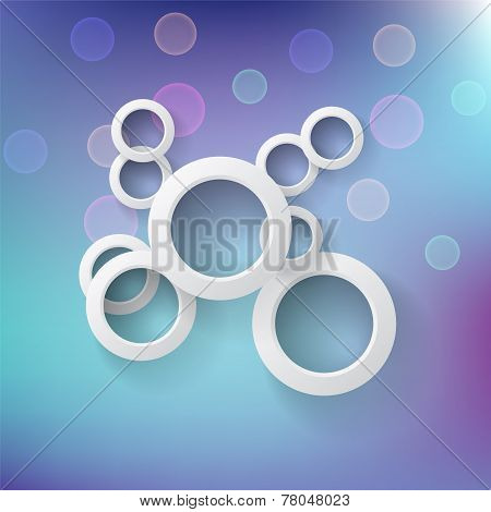 Abstract Background With Round Shapes And Light Spots