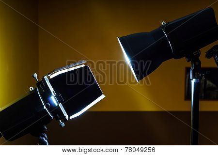 Duel Of Two Photo Flash Lights