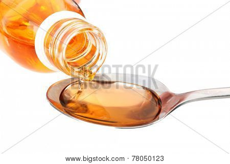 Cough syrup, close-up