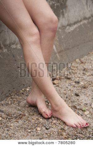 Legs By Wall