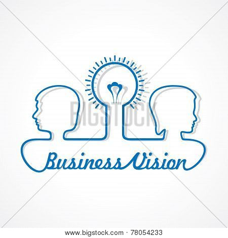 Business concept - people with bulb stock vector