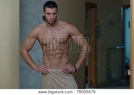 Beautiful Muscular Man After Bath