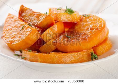 Baked Sweet Potato Wedges With  Thyme