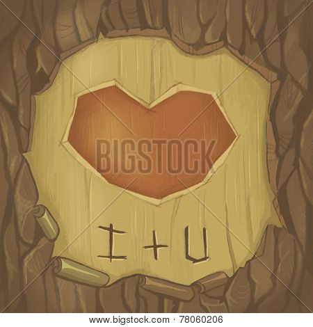 heart on tree