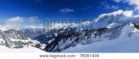 Panorama of the Chablais Alps